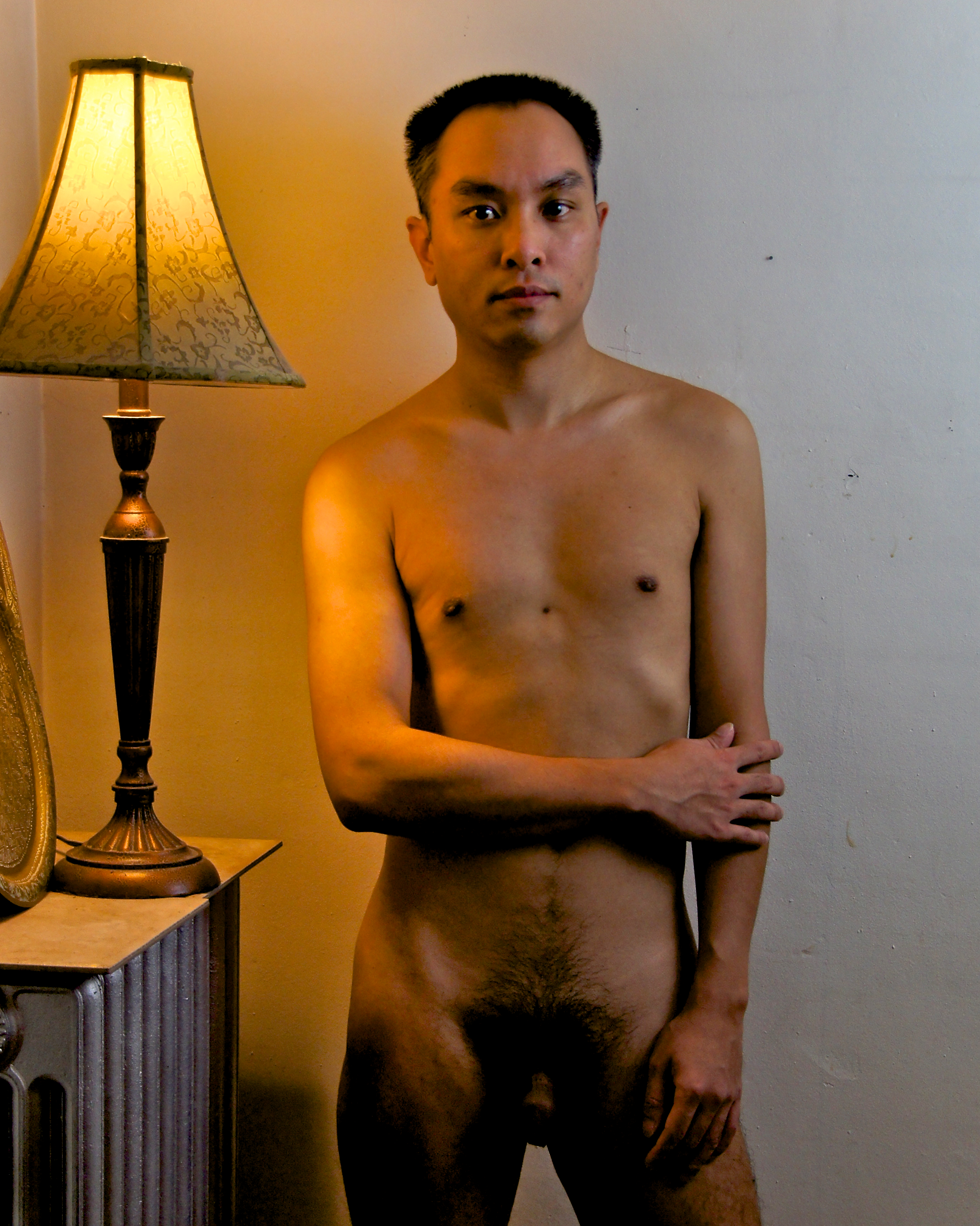 Nude Asian man