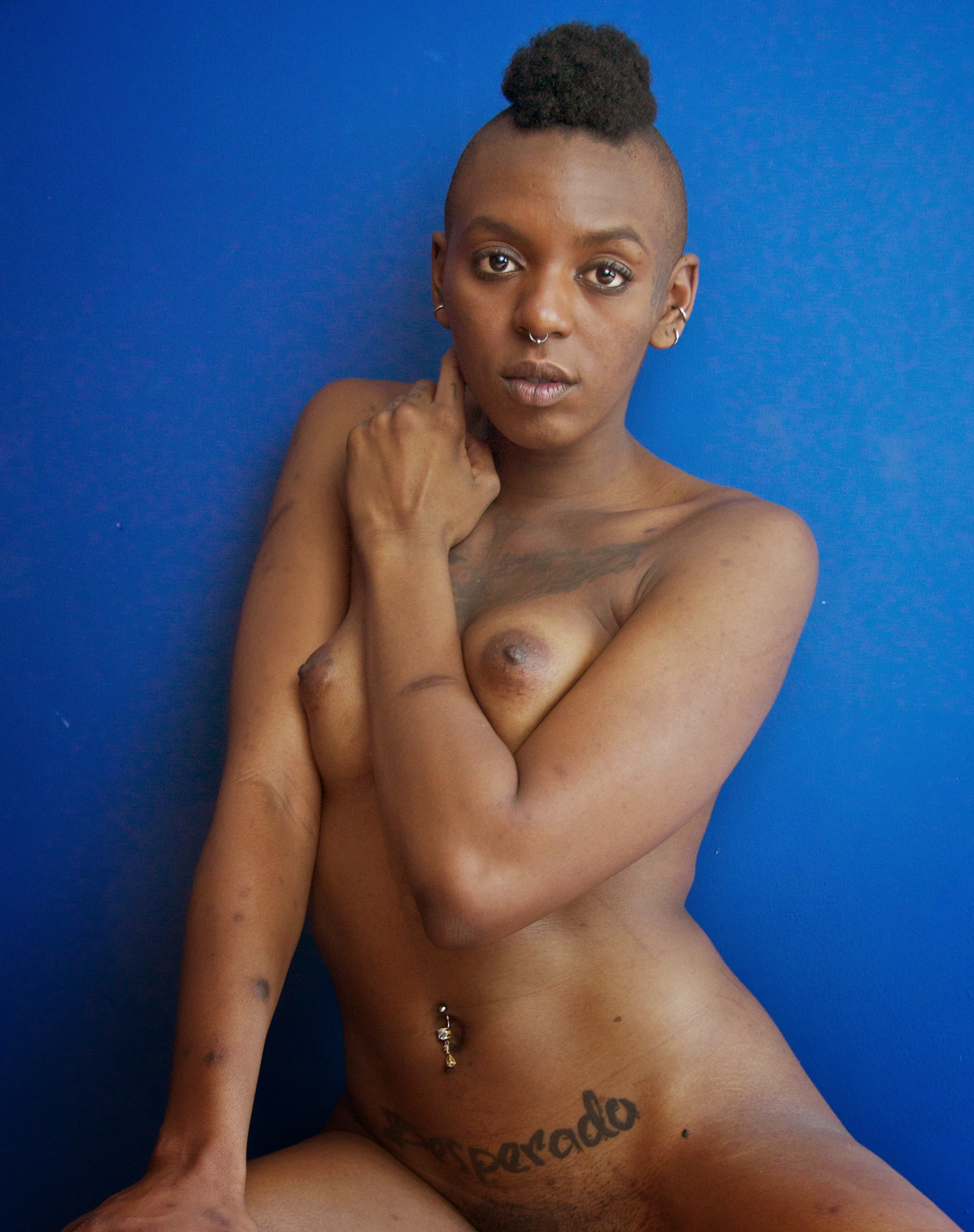 African-American woman nude