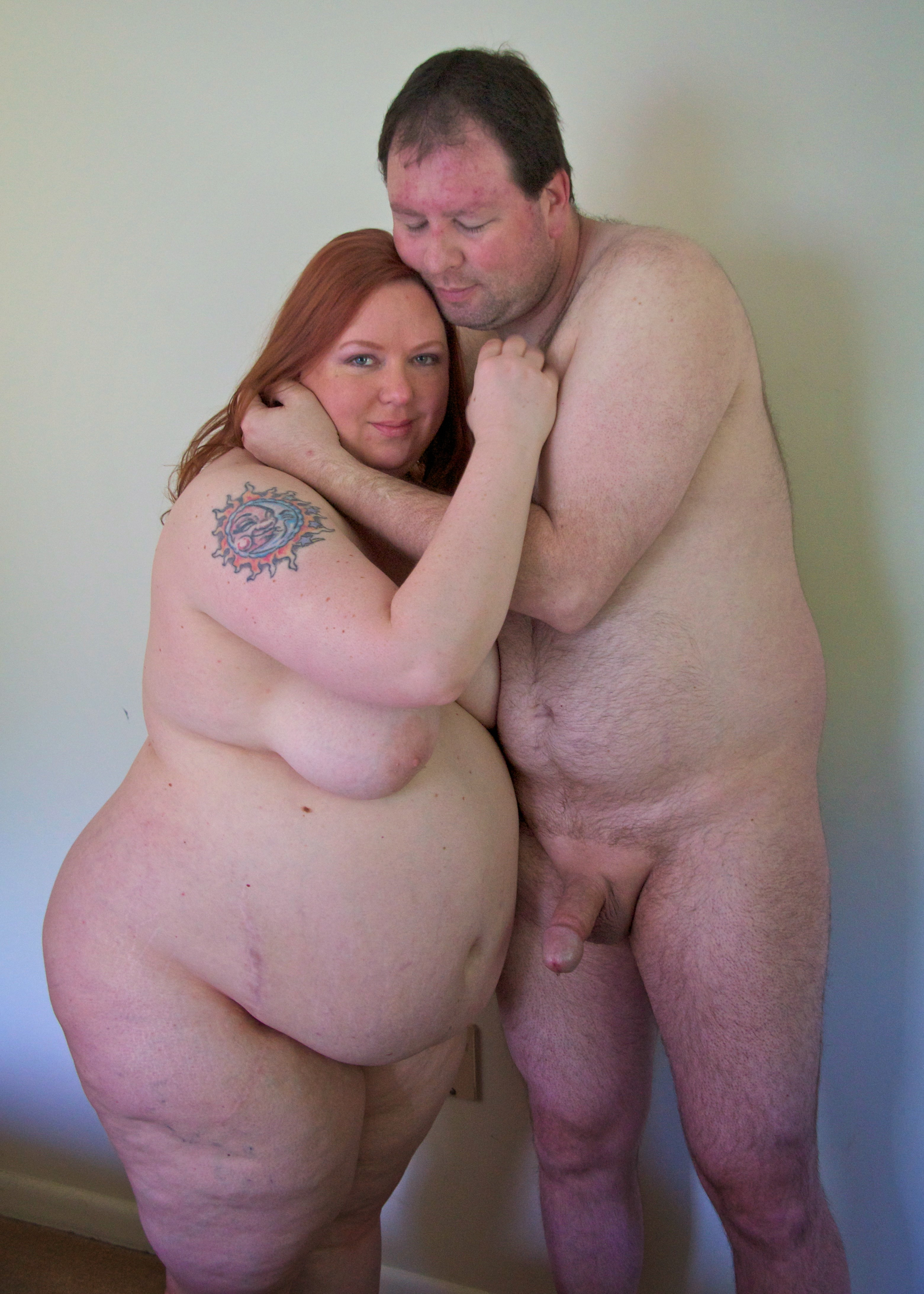 Nude caucasian couple